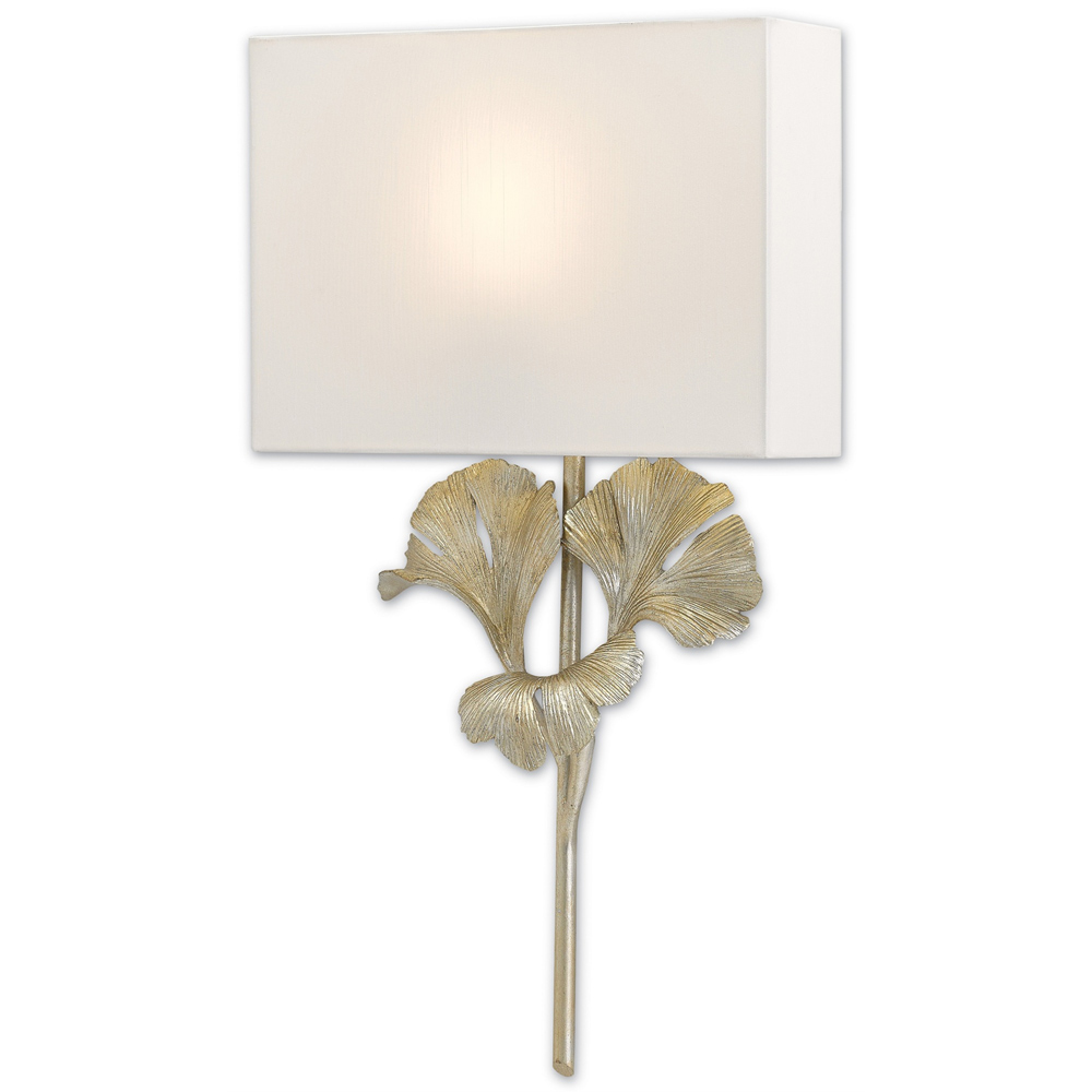 Currey & Company Lighting Gingko Wall Sconce 5900-0009 Wrought Iron