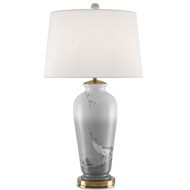 Currey & Company Lighting Nia Table Lamp 6000-0101 Porcelain