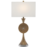 Currey & Company Lighting Genie Table Lamp 6000-0124 Brass