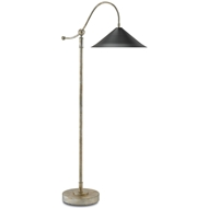 Currey & Company Lighting Wearby Floor Lamp 8000-0006 Wrought Iron