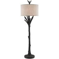 Currey & Company Lighting Arboria Floor Lamp 8000-0009 Concrete
