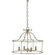 Currey & Company Lighting Fitzjames Pendant/Semi-Flush 9000-0052 Wrought Iron