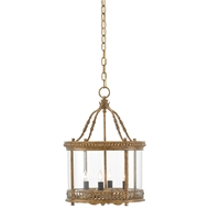 Currey & Company Lighting Grayson Lantern/Semi-Flush 9000-0053 Wrought Iron