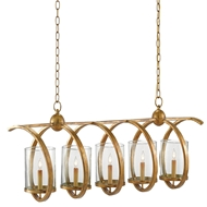 Currey & Company Lighting Maximus Rectangular Chandelier 9000-0054 Wrought Iron