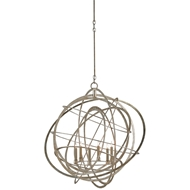 Currey & Company Lighting Genesis Chandelier 9000-0062 Wrought Iron