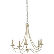 Currey & Company Lighting Cascade Chandelier 9000-0066 Wrought Iron