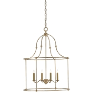 Currey & Company Lighting Fitzjames Lantern 9000-0068 Wrought Iron