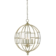 Currey & Company Lighting Broxton Orb Chandelier 9000-0070 Wrought Iron