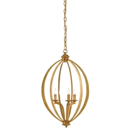 Currey & Company Lighting Bella Luna Chandelier Small 9000-0073 Wrought Iron