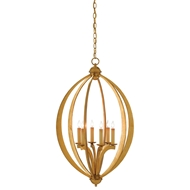 Currey & Company Lighting Bella Luna Chandelier Large 9000-0075 Wrought Iron