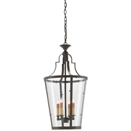Currey & Company Lighting Fergus Lantern 9000-0078 Wrought Iron