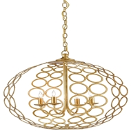Currey & Company Lighting Tartufo Chandelier 9000-0079 Wrought Iron