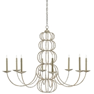 Currey & Company Lighting Clarion Chandelier 9000-0102 Wrought Iron