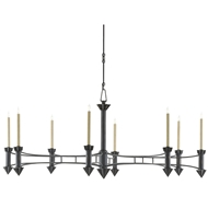 Currey & Company Lighting Arley Chandelier 9000-0103 Wrought Iron