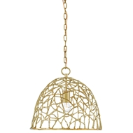 Currey & Company Lighting Gloriette Pendant 9000-0117 Brass