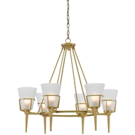 Currey & Company Lighting Patmos Chandelier 9000-0120 Brass