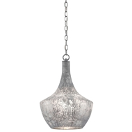 Currey & Company Lighting Segreto Pendant 9000-0124 Mercury Glass