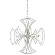 Currey & Company Lighting Malta Chandelier 9000-0129 Wrought Iron