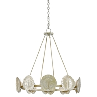 Currey & Company Lighting Call Me Lilly Chandelier 9000-0134 Wrought Iron