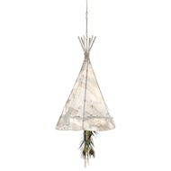 Currey & Company Lighting Stardust Teepee Chandelier Large 9000-0137 Wrought Iron