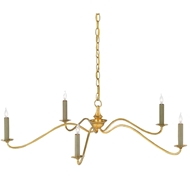 Currey & Company Lighting Valais Chandelier 9000-0142 Wrought Iron