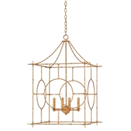 Currey & Company Lighting Lynworth Lantern Large 9000-0145 Wrought Iron