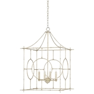Currey & Company Lighting Lynworth Lantern Large 9000-0146 Wrought Iron