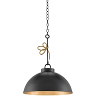 Currey & Company Lighting Hannari Pendant 9000-0151 Wrought Iron