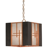 Currey & Company Lighting Kiyamacki Lantern 9000-0154 Wrought Iron