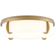 Currey & Company Lighting The Compeer Flush Mount 9999-0018 Brass