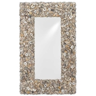 Currey & Company Home Ostra Wall Mirror 1000-0017 Engineered Hardwood/Shells/Mirror Glass
