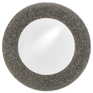 Currey & Company Home Batad Shell Mirror Round 1000-0018 Engineered Hardwood/Batad Shells