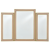Currey & Company Home Arden Vanity Mirror 1000-0024 Reverse Painted Glass/Wood/Beveled Mirror Glass