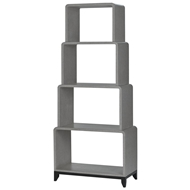 Currey & Company Home Nicolene Etagere 3000-0044 Solid Mahogany/Engineered Hardwood/Lacquered Linen