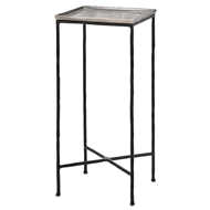 Currey & Company Home Boyles Drinks Table - Silver