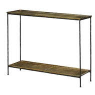 Currey & Company Home Boyles Console Table 4000-0023 Iron/Cast Aluminum