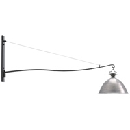 Currey & Company Lighting Far Out Wall Sconce 5000-0061 Aluminum Shade/Wrought Iron