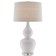 Currey & Company Lighting Jamie Table Lamp 6000-0166 Porcelain/Optic Crystal