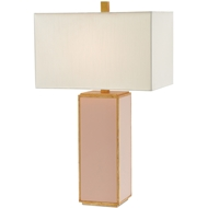 Currey & Company Lighting Arden Table Lamp 6000-0191 Glass/Wood