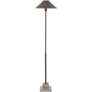 Currey & Company Lighting Fudo Floor Lamp 8000-0016 Wrought Iron/Concrete