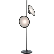 Currey & Company Lighting Bulat Floor Lamp 8000-0018 Metal/ Glass