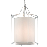 Currey & Company Lighting Miller Lantern Nickel 9000-0165 Brass