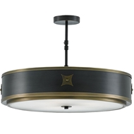 Currey & Company Lighting Huntsman Semi-Flush Mount 9000-0171 Brass/Glass