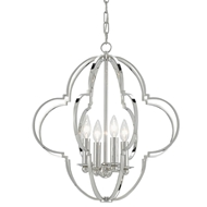 Currey & Company Lighting Sojourn Chandelier Nickel