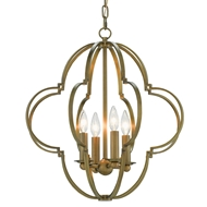 Currey & Company Lighting Sojourn Chandelier Brass