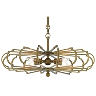 Currey & Company Lighting Bascom Chandelier Brass