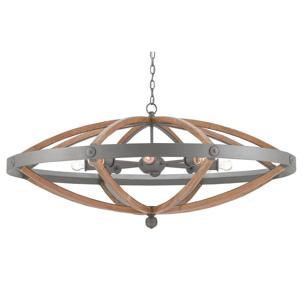 Currey And Company Lotus Chandelier: Currey And Company Grand Lotus Oval Chandelier
