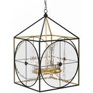 Currey & Company Lighting Sagamore Lantern 9000-0205 Wrought Iron/Glass