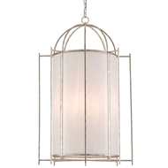 Currey & Company Lighting Alton Lantern 9000-0219 Wrought Iron/Art Glass