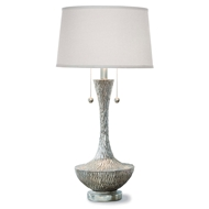 Regina Andrew Lighting Embossed Vessel Table Lamp - Ambered Silver